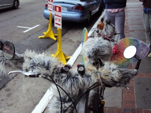 Rare San Francisco species of bicycle.  Spotted 9/25/11 in the Mission.