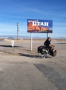 At the border of Nevada and Utah